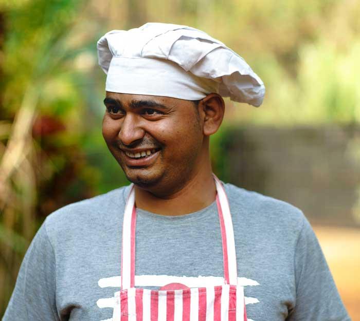 cook at swan yoga Goa