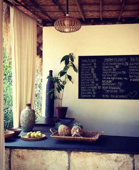 juice bar at swan yoga retreat
