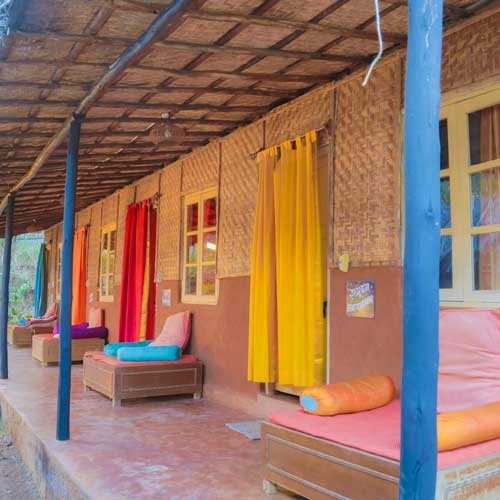 budget cottages at yoga retreat