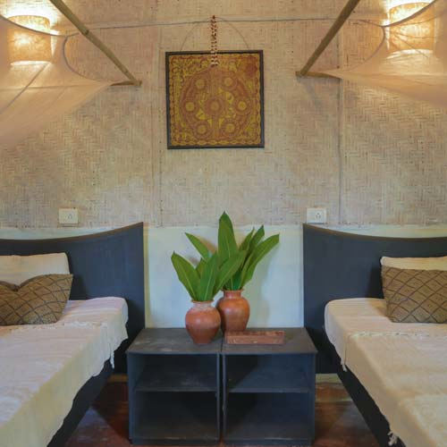 accommodation at swan yoga retreat
